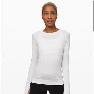 Lululemon White Rest Less Pullover